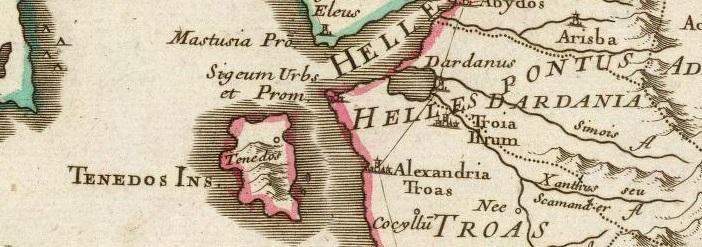 1708 - Graeciae pars Septentrionalis. Guillaume DeLisle, Quai de l'Horloge Paris.jpg
