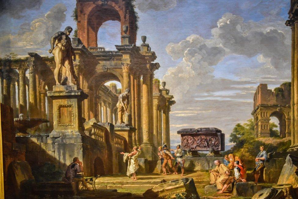 1750_Giovanni Paolo Panini - An Architecture Capriccio of the Roman Forum.jpg