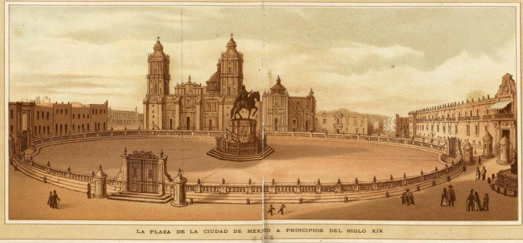 1885 la plaza de la ciudad de mexico a principios del siglo XIX aNTONIO gARCIA cUBAS.jpg