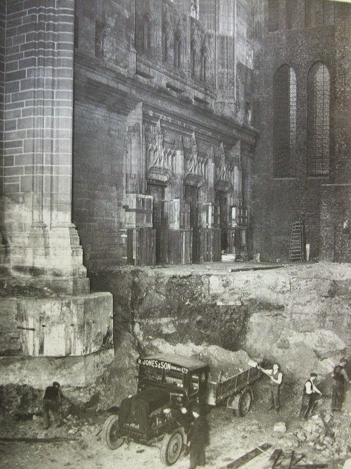 Anglican cathedral excavations showing how laborious and primitive they were..jpg