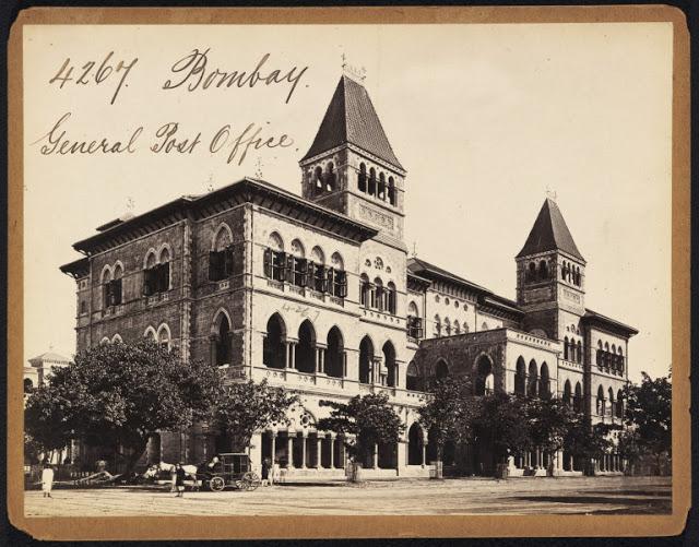 Bombay (Mumbai) - General Post Office - 19th Century Photograph.jpg