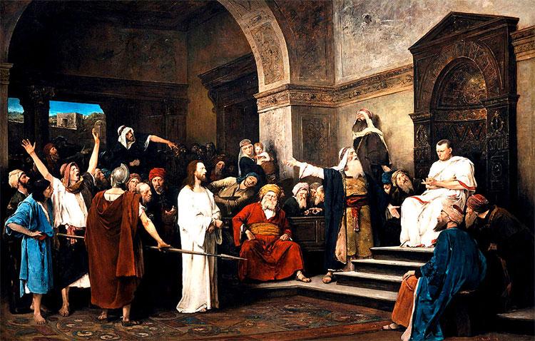 Christ before Pilate, Mihály Munkácsy, 1881.jpg