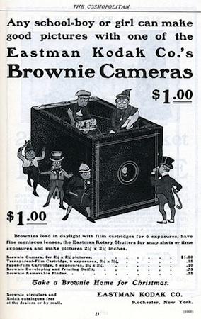 Eastman Kodak Advertisement for the Brownie Camera, c. 1900.jpg