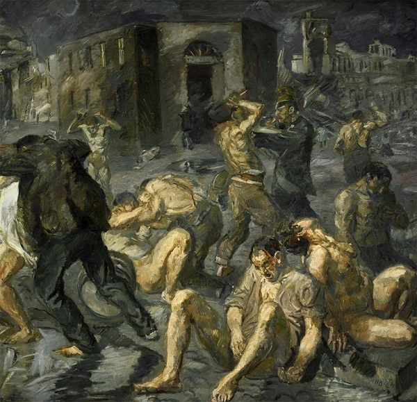 insanity patients being arrested after the earthquake in Messina by Max Beckmann.jpg