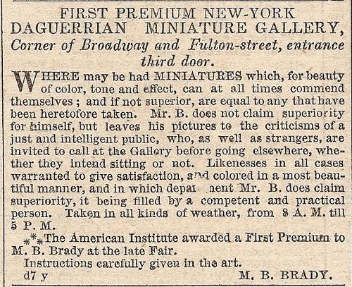 Mathew Brady advertisement, April 17, 1845.jpg