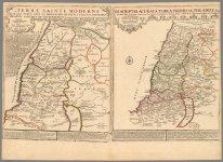 1720 - Terre Sainte moderne (with) Descriptio acurata Terrae Promissae.jpg
